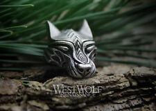 Silver Viking Wolf Head Pendant --- Norse/Warg/Werewolf/Medieval/Jewelry/Skyrim