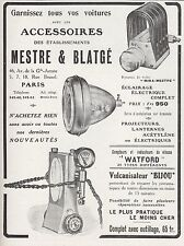 PUBLICITE MESTRE & BLATGE  AUTOMOBILE ACCESSOIRES AUTO   AD  1913 -1H