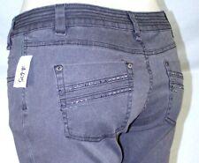 bebe Boom Boom 2B Jeans Gray Skinny Leg Rhinestone Denim Womens Size 31