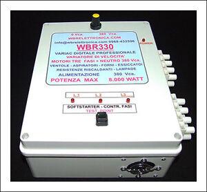 WBR330- VARIATORE DI VELOCITA' DIGITALE PER  MOTORI TRE FASI 380 Vca  8.000 W