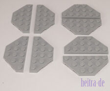 LEGO - 8 x Flügel / Trapez Platte hellgrau 3x6 / Wedge Plate / 2419 NEUWARE