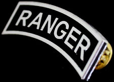 US Army RANGER Badge SILVER Pin Large Size
