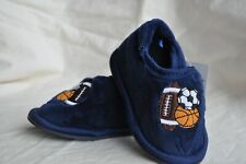 Toddler slippers, size 5/6 with sports design
