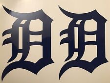 "Detroit Tigers Old English D 2 Pack Blue Vinyl Decal 4""x 5.75""**FREE SHIPPING**"