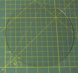 """6 5/8"""" Convex Glass Dial Cover For Your Vintage Antique Radio / Clock Dial Face"""