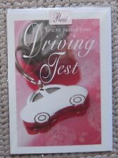 You've passed your Driving Test Car Key Ring Greetings Card