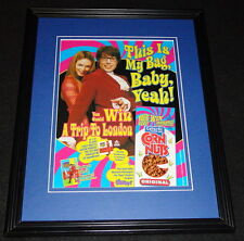 Austin Powers 1999 Corn Nuts Framed 11x14 ORIGINAL Advertisement Mike Myers