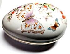 Avon Collectible 1974 Vintage Butterfly Fantasy Fine Porcelain Egg~22K Gold Trim