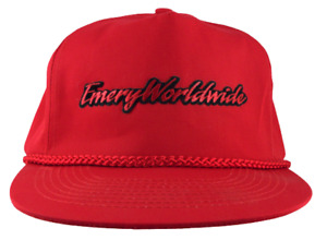 Emery Worldwide Snapback Hat Cargo Airline Freight Small Patch Cap vintage