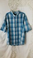 """George"" Size 2 XL (50-52) Men's Short Sleeve Button Up, Plaid Shirt"