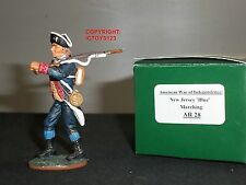 King and Country ar28 American Révolution New Jersey Bluecoat Marching Figure