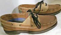 Ivy Crew,  Brown 2 Tone Classic boat shoes, Leather w/Laces, US 7.5D