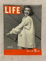 Vintage Large Life Magazine 'Fashion Note' From April 11, 1938