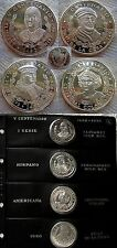 V centenario Descubrimiento America. Serie 1ª. 4 monedas de ONZA PLATA año 1990.