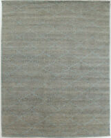 9X12 Hand-Knotted Oushak Carpet Traditional Grey Fine Wool Area Rug D57040