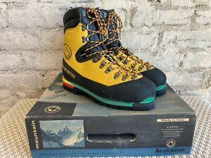 La Sportiva Nepal Extreme Mountaineering Boots Yellow EU 47 UK 12 RRP £365