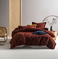 Linen House Deluxe Waffle Brick Single Double Queen King Super Quilt Cover Set
