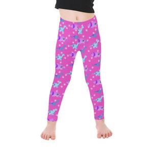 Pink Dinosaur Kids Leggings, Alternative, Metal, Halloween 1-7 yrs