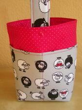 Handarbeitstasche,Strickkorb, Handarbeitskorb m Henkel,Taschen- lustige Schafe 2