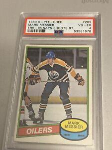 Mark Messier 1980 O-Pee-Chee (OPC) Rookie #289 ** PSA 4 ** Oilers / Rangers HOF