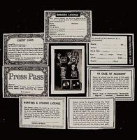 Beatles 1964 Wallet Photo Card Set Paul John George Ringo Authentic Original COA