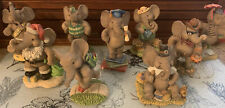 9 Figurine Lot Peanut Pals of the Month Sculpture Collection Michael Adams 1997