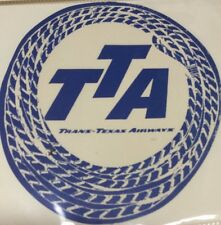 Rare Vintage Luggage Travel Sticker Aviation Trans-Texas Airways