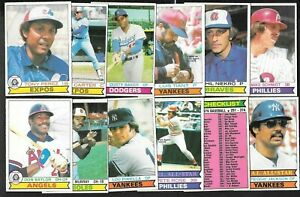 1979 OPC O PEE CHEE TOPPS MLB BASEBALL CARD 251-374 & WRAPPER SEE LIST