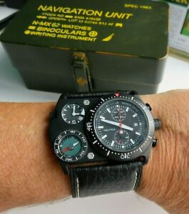 Nautica navigation set N-MX62 N29501 Chronograph,Compass MEN'S WATCH WITH BOX