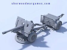 28mm British 25pdr QF Gun And Limber In Resin By Blitzkrieg WWII Bolt Action,