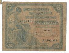 5 francs 1952 Belgian Congo Rwanda-Burundi Pick 21 01.10.52 Belge Belgisch p f