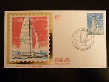 MONACO PREMIER JOUR FDC YVERT  1488    BATEAU CATAMARAN     4F   MONACO  1985
