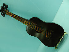 "MINIATURE 10.25"" WOOD - STEEL STRING GUITAR WITH MUSIC BOX INSIDE **NICE!**"