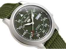 Seiko Automatic Military Green Nylon Sports Watch SNK805 SNK805K2 Men's Day Date
