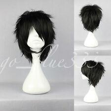 TT-526 Short layered loveless Black Anime Cosplay Wig