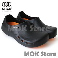 Stico Nec-03H Mens Chef Kitchen Shoes Non-Slip Cook Slipper Indoor Clean Rubber