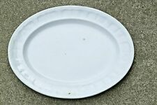 "John Edwards White English Ironstone 14"" President Shape Serving Platter 1856"