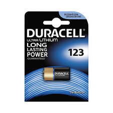 ★1 BATTERIA DURACELL DL123A EL123A CR123A CR17345 3V 1400 MAH PHOTO AL LITIO★