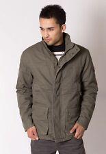 Mens Winter Army Combat Military Field Cotton Coat Jacket L Khaki