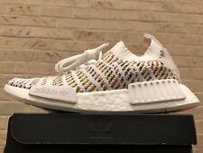 Adidas NMD R1 STLT PK Boost White Multi Running Shoes Women's sz 6 Solar B43838
