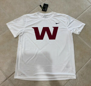 Washington Football Team Nike Team Issued Dri Fit W Logo TShirt Men's XL Rare