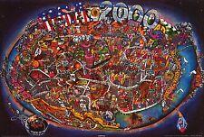VINTAGE USA MAP POSTER~1972 Original NOS Future America Vietnam Period 30 Years~