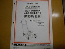 """Homelite 20"""" Turbo Vac Rotary Mower Parts List JA-99200-2"""