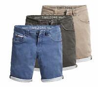 Timezone Herren Jeans Shorts kurze Hose Herrenhose Bermuda Denim Slim 24-10050