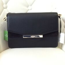 Kate Spade Kaela Carmel Court Black Leather And Suede Women's Shoulder Bag NWT