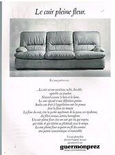 Publicité Advertising 1979 Canapés Fauteuils cuir Guermonprez