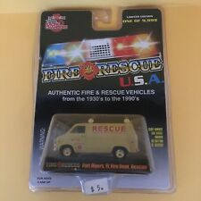 Racing Champions Fire Rescue 1975 Chevy Van Fort Myers FL Fire Dept Rescue