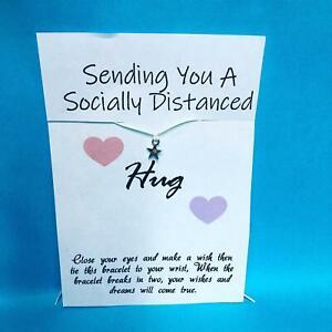 Social Distance Hug Wish Bracelet Friendship Isolation Lockdown Gift