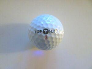VINTAGE DHL LOGO TOP FLITE GOLF BALL #3 ROUND DIMPLE