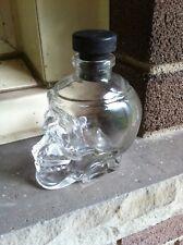 GLASS SKULL HEAD BOTTLE 6 OZ.